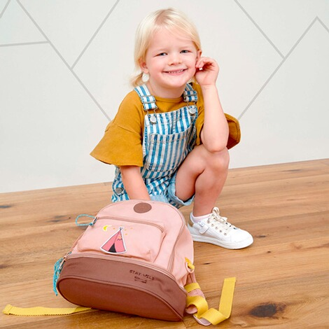 Lässig  Kindergartenrucksack Mini Backpack Adventure  rosa Tipi 5