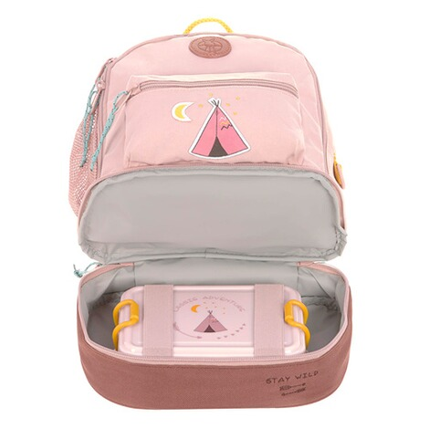Lässig  Kindergartenrucksack Mini Backpack Adventure  rosa Tipi 6