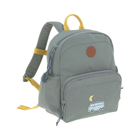 Lässig  Kinderrucksack Medium Backpack Adventure  blau Bus 1
