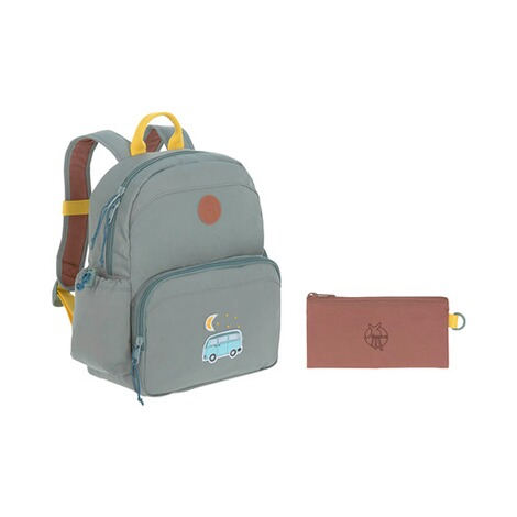 Lässig  Kinderrucksack Medium Backpack Adventure  blau Bus 9