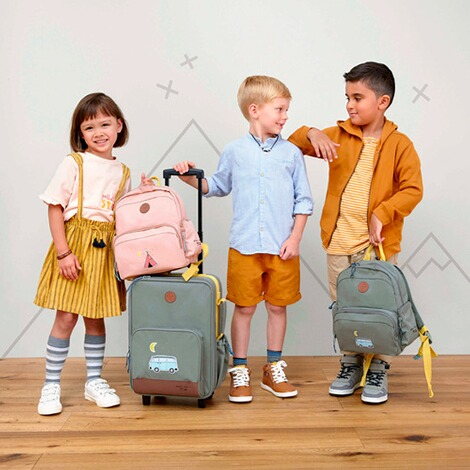 Lässig  Kinderrucksack Medium Backpack Adventure  rosa Tipi 3