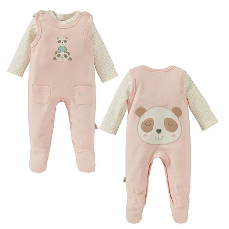 Bornino Panda Time Strampler-Set Panda 1