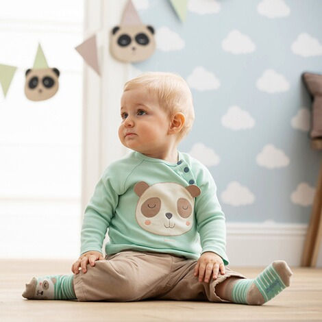 Bornino Panda Time Cordhose 6