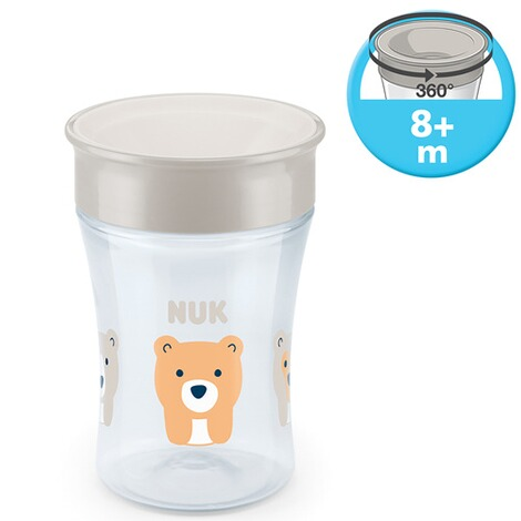 NUK  Trinklernbecher Magic Cup 230 ml  weiß 3