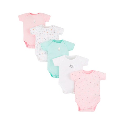 Mothercare  5er-Pack Bodys kurzarm Tiere 1