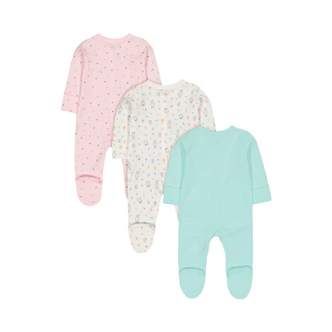 Mothercare  3er-Pack Schlafoveralls Tiere 2