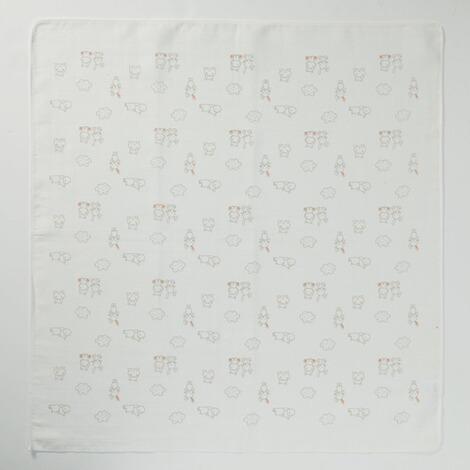 Bornino Eltern f/ür dich Mullwindeln 80x80 cm Hippo /& Rabbit mint//offwhite 2er-Pack - weiche Baumwoll- Spuckt/ücher