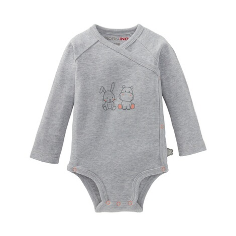 Bornino Hippo & Rabbit 2er-Pack Wickelbodys langarm 5