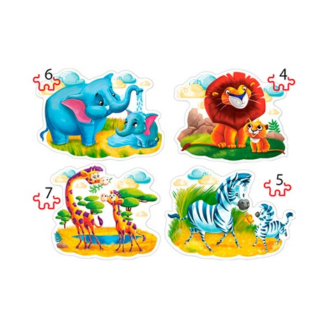 Glow2B  Puzzle Zootiere 2