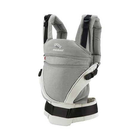 manduca® XT Babytrage, 3 Tragepositionen  grey-white 1