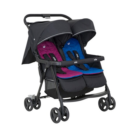 Joie  Aire Twin Zwillings- und Geschwisterbuggy  rosy & sea 1