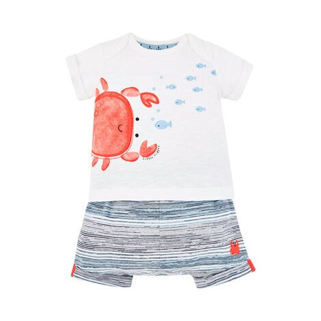 Mothercare  2-tlg. Set Shorts und T-Shirt Krabbe 1