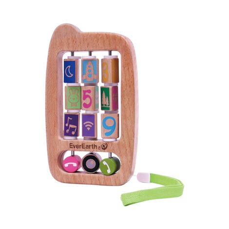 EverEarth  Rassel Baby-Handy aus Holz 1