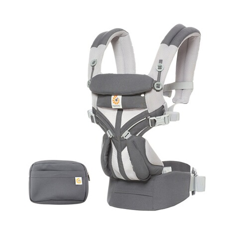 Ergobaby®OMNI 360Cool Air Mesh Babytrage, 4 Tragepositionen  CarbonGrey 5