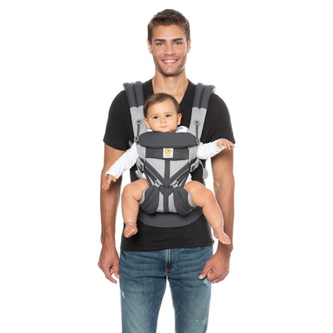 Ergobaby®OMNI 360Cool Air Mesh Babytrage, 4 Tragepositionen  CarbonGrey 8