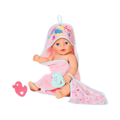 Zapf Creation BABY BORN Bath Kapuzenhandtuch & Schwamm 3