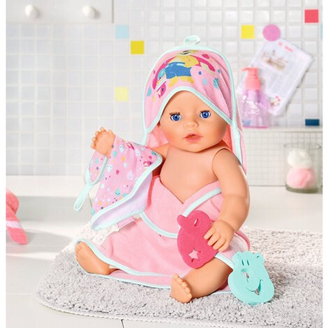Zapf Creation BABY BORN Bath Kapuzenhandtuch & Schwamm 4