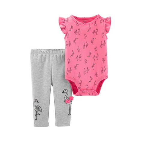 CARTER´S  2-tlg. Set Body Flügelarm und Leggings Flamingo 1