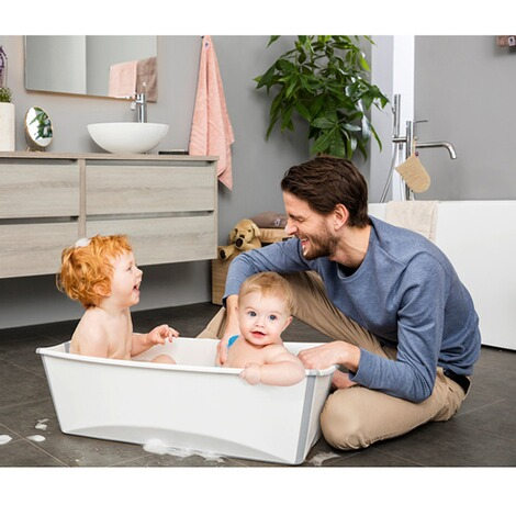 Stokke® FLEXIBATH Badewanne XL  white grey 2