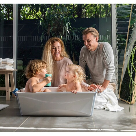 Stokke® FLEXIBATH Badewanne XL  white grey 3