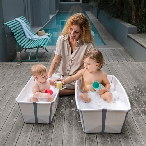 Stokke® FLEXIBATH Badewanne XL  white grey 4