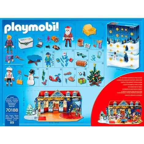 Playmobil Weihnachten.70188 Adventskalender Weihnachten Im Spielwarengeschaft