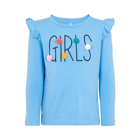 NAME IT  Shirt langarm Rüsche Girls 1
