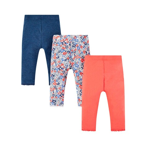 Mothercare  3er-Pack Leggings Uni Blumen 2