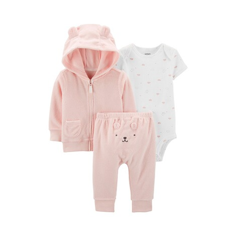 buy online 78eb3 a3056 3-tlg. Set Body kurzarm, Frottee-Jacke und Frotteehose Hase
