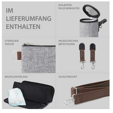 ABC Design  Wickeltasche Urban  graphite grey 9