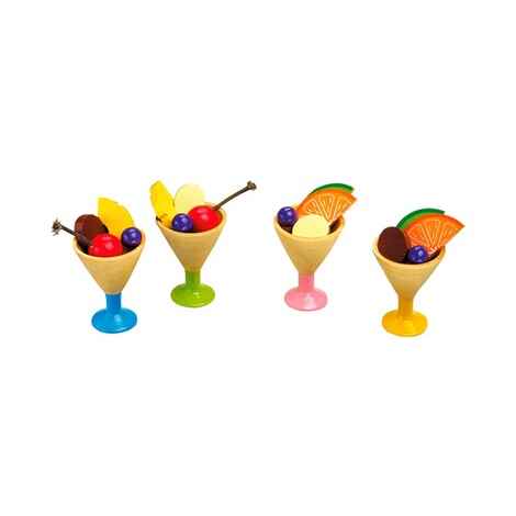 Small Foot  Eisbecher 4er Set aus Holz 1