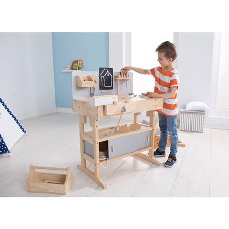 Howa Werkbank mit Werkzeugkiste aus Holz und Zubehör ...