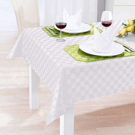vivadomo jacquard tischdecke spezial wei online kaufen die moderne hausfrau. Black Bedroom Furniture Sets. Home Design Ideas
