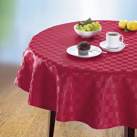 jacquard tischdecke spezial rot online kaufen die moderne hausfrau. Black Bedroom Furniture Sets. Home Design Ideas