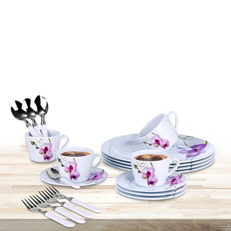 kaffee service orchidee 20 teile online kaufen die moderne hausfrau. Black Bedroom Furniture Sets. Home Design Ideas