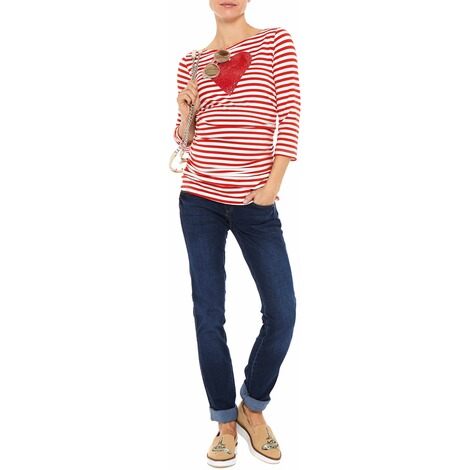 PAULINA  Umstandsshirt Angel Heart  red striped 2