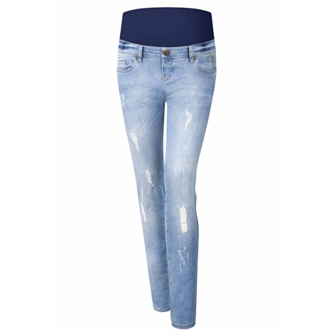 PAULINA  Umstandsjeans Brooklyn Blues  bleached denim 1