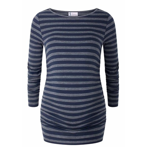 PAULINA  Umstandsshirt Runaway Girl  dark blue striped 1