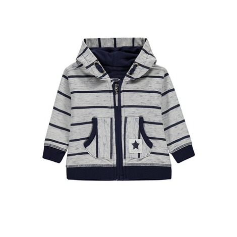 Bellybutton  Sweatjacke gestreift m. Kapuze  allover 1