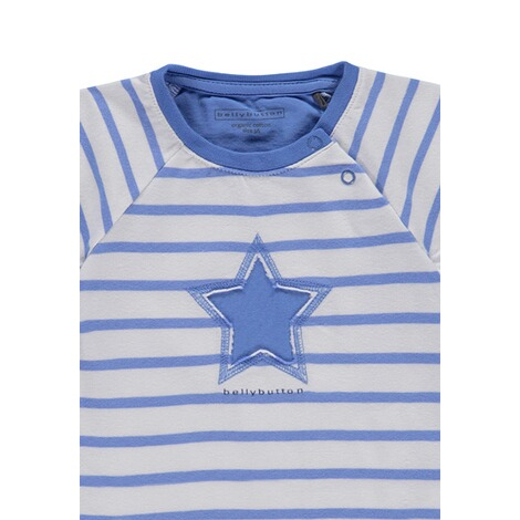 Bellybutton  T-Shirt gestreift mit Stern Little big Star  y/d stripe 3