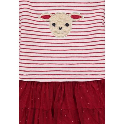 Kanz Kleid mit T/üllrock und Streifen M/ädchen Baby