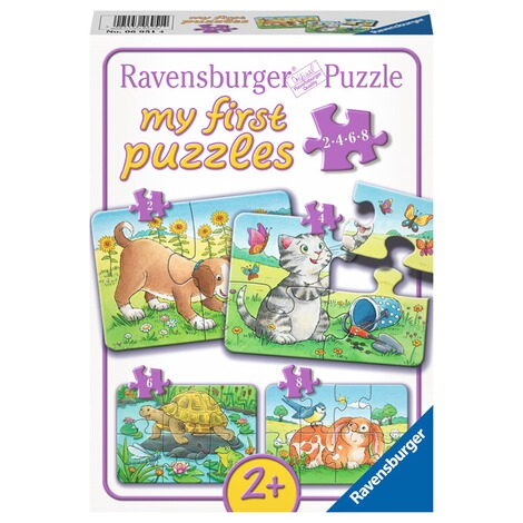 Ravensburger  my first puzzles 2, 4, 6, 8 8 Teile, Niedliche Haustiere 1