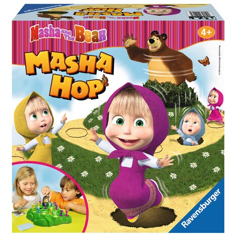 RAVENSBURGER  Masha and the Bear Masha Hop, 3D-Laufspiel 1