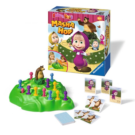 RAVENSBURGER  Masha and the Bear Masha Hop, 3D-Laufspiel 2