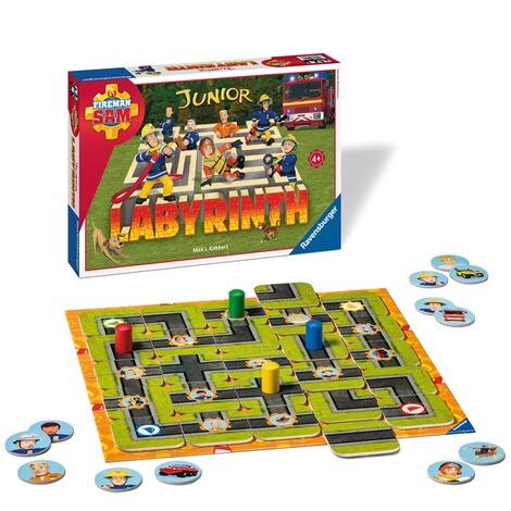 RAVENSBURGER  Fireman Sam Junior Labyrinth, Such-Schiebespiel 2