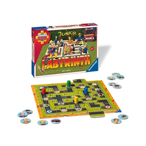 RAVENSBURGER  Fireman Sam Junior Labyrinth, Such-Schiebespiel 3