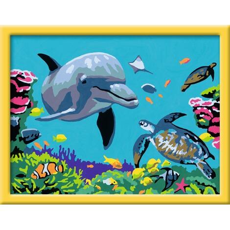 Ravensburger Malen Nach Zahlen Delfin Und Schildkröte
