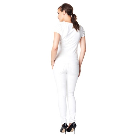 NOPPIES  Slim Umstandsjeans Leah  White 7