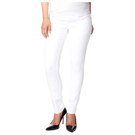 NOPPIES  Slim Umstandsjeans Leah  White 5
