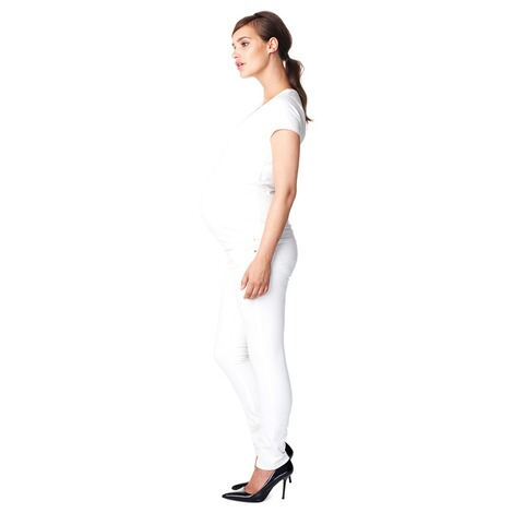NOPPIES  Slim Umstandsjeans Leah  White 8